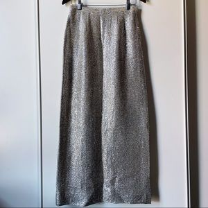 Vintage Arbe silver sparkle lined maxi skirt